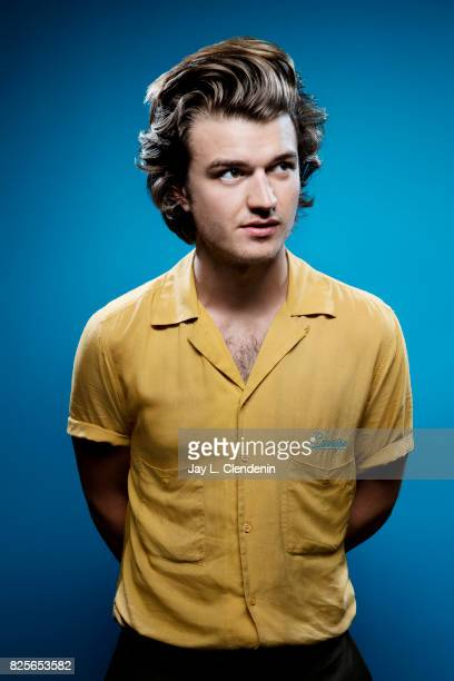 Actor Joe Keery from the television series 'Stranger Things' is photographed in the LA Times photo studio at ComicCon 2017 in San Diego CA on July 22...
