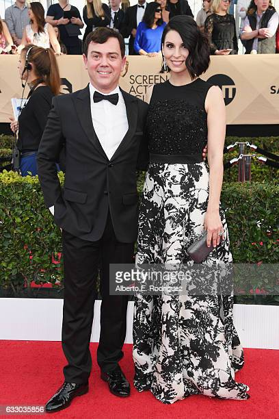 Actor Joe Lo Truglio and Beth Dover attend the 23rd Annual Screen Actors Guild Awards at The Shrine Expo Hall on January 29 2017 in Los Angeles...
