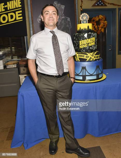 Actor Joe Lo Truglio poses for portrait as Fox's 'Brooklyn NineNine' celebrates their 99th episode at CBS Studio Center on October 4 2017 in Studio...