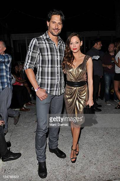 Actor Joe Manganiello and Actress Rose McGowan attend A Celebration Of Fashion Next at The Courtyard at Lincoln Center on September 12 2011 in New...