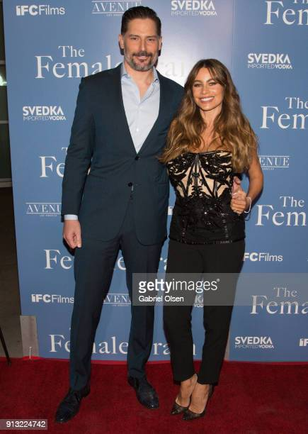 Actor Joe Manganiello and actress Sofia Vergara arrive for the premiere of IFC Films' 'The Female Brain' at ArcLight Hollywood on February 1 2018 in...