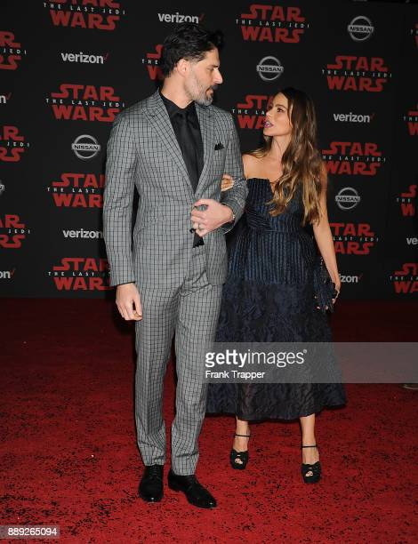 Actor Joe Manganiello and actress Sofia Vergara attend the premiere of Disney Pictures and Lucasfilm's 'Star Wars The Last Jedi' held at The Shrine...