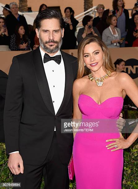 Actor Joe Manganiello and actress Sofia Vergara attends The 22nd Annual Screen Actors Guild Awards at The Shrine Auditorium on January 30 2016 in Los...