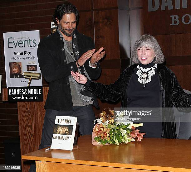 Actor Joe Manganiello and author Anne Rice attend a signing for Rice's book 'The Wolf Gift' at Barnes Noble at The Grove on February 17 2012 in Los...