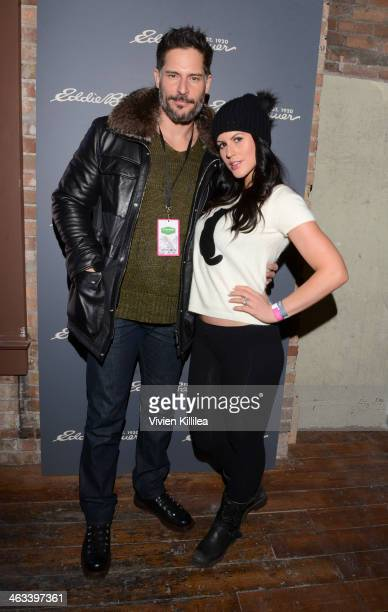 Actor Joe Manganiello and model Bridget Peters attend The Eddie Bauer Adventure House Day 1 2014 Park City on January 17 2014 in Park City Utah