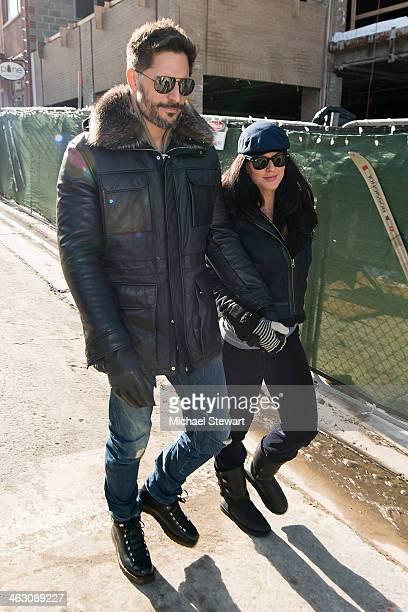 Actor Joe Manganiello and model Bridget Peters seen on the street on January 16 2014 in Park City Utah
