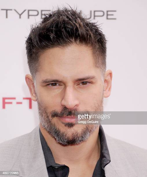 Actor Joe Manganiello arrives at the Jaguar FTYPE Coupe launch party at Raleigh Studios on November 19 2013 in Playa Vista California