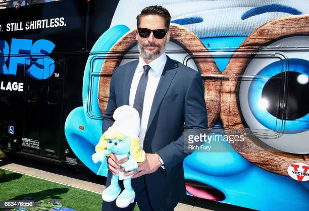 Actor Joe Manganiello arrives at the premiere of Sony Pictures' Smurfs The Lost Village at ArcLight Cinemas on April 1 2017 in Culver City California
