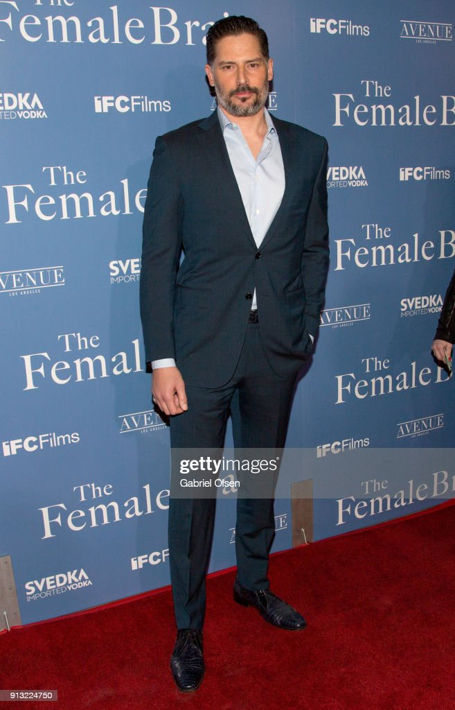 Actor Joe Manganiello arrives for the premiere of IFC Films' 'The Female Brain' at ArcLight Hollywood on February 1, 2018 in Hollywood, California.