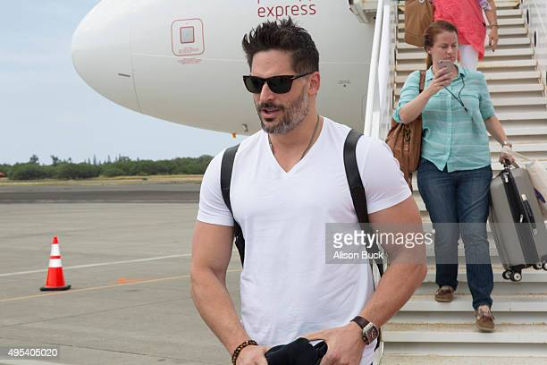 Actor Joe Manganiello arrives in Oahu for Virgin America and Airbnb Hawaii Launch Party on November 2 2015 in San Francisco California