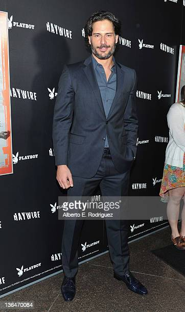 Actor Joe Manganiello arrives to the premiere of Relativity Media's Haywire at DGA Theater on January 5 2012 in Los Angeles California