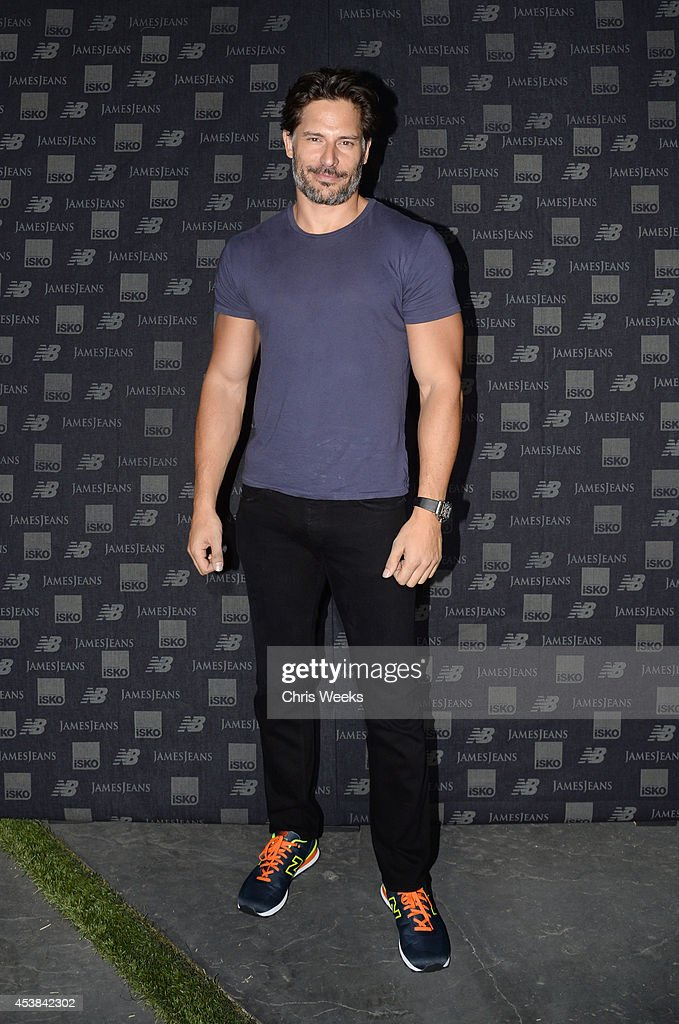 Actor Joe Manganiello attends a dance party with New Balance and James Jeans powered by ISKO at the home of Pascal Mouwad on August 19, 2014 in Bel Air, California.
