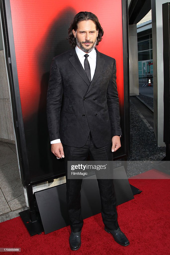 Actor Joe Manganiello attends HBO's 'True Blood' season 6 premiere at ArcLight Cinemas Cinerama Dome on June 11, 2013 in Hollywood, California.