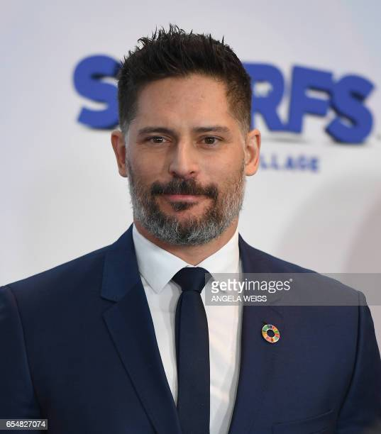 Actor Joe Manganiello attends International Day of Happiness in conjunction with SMURFS THE LOST VILLAGE at the United Nations Headquarters on March...