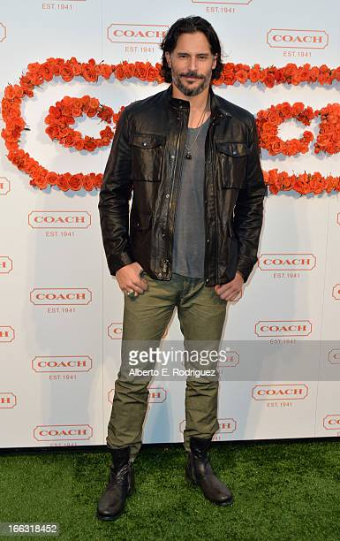 Actor Joe Manganiello attends the 3rd Annual Coach Evening to benefit Children's Defense Fund at Bad Robot on April 10 2013 in Santa Monica California