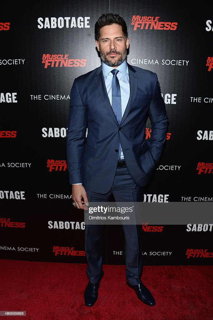 Actor Joe Manganiello attends The Cinema Society with Muscle & Fitness screening of Open Road Films' 'Sabotage at AMC Loews Lincoln Square on March 25, 2014 in New York City.
