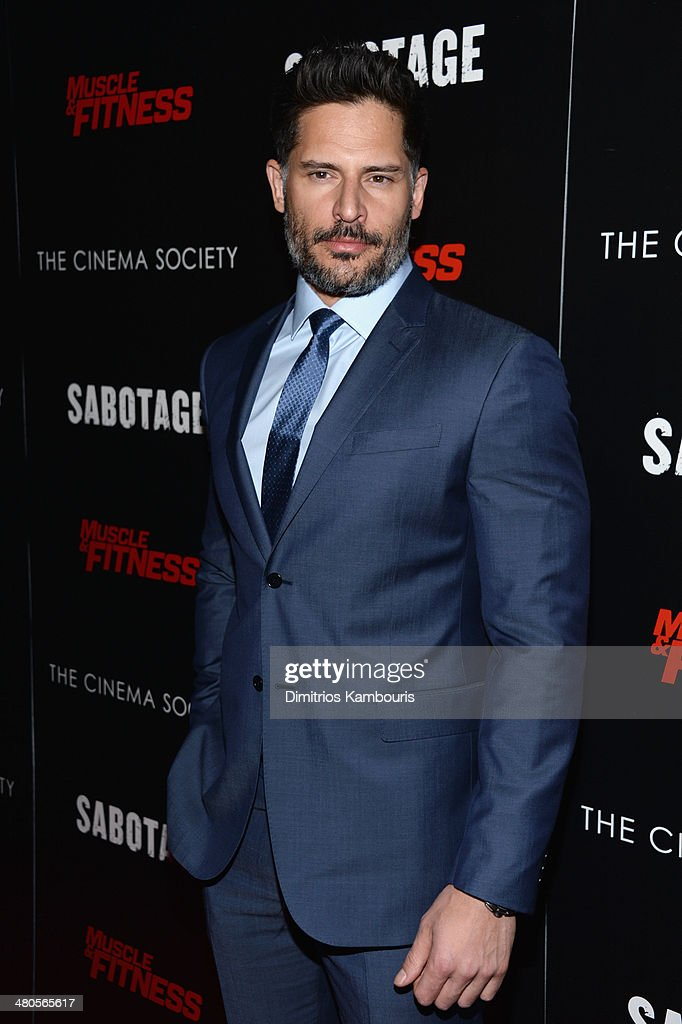 Actor Joe Manganiello attends The Cinema Society with Muscle & Fitness screening of Open Road Films' 'Sabotage' at AMC Loews Lincoln Square on March 25, 2014 in New York City.