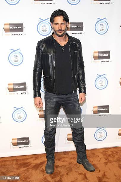 Actor Joe Manganiello attends the Duracell Rely On Copper To Go For The Gold Olympics program launch at Stage 37 on March 21 2012 in New York City