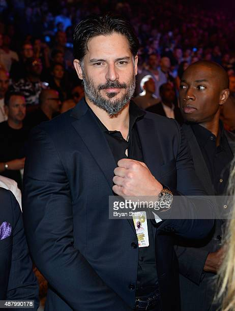Actor Joe Manganiello attends the 'High Stakes Mayweather v Berto' fight presented by Showtime at MGM Grand Garden Arena on September 12 2015 in Las...