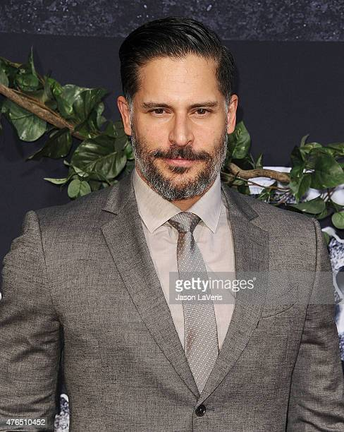 Actor Joe Manganiello attends the premiere of 'Jurassic World' at Dolby Theatre on June 9 2015 in Hollywood California