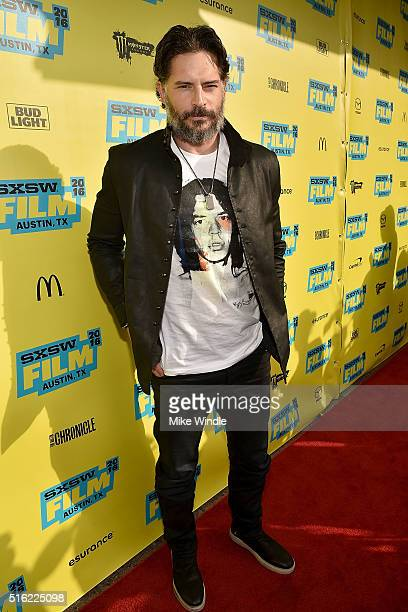 Actor Joe Manganiello attends the premiere of Peewee's Big Holiday during the 2016 SXSW Music Film Interactive Festival at Paramount Theatre on March...