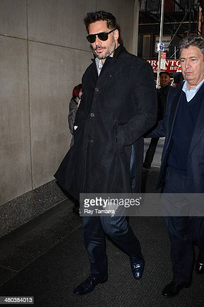 Actor Joe Manganiello enters the 'Today Show' taping at the NBC Rockefeller Center Studios on March 24 2014 in New York City