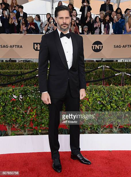 Actor Joe Manganiello poses in the press room during the 22nd Annual Screen Actors Guild Awards at The Shrine Auditorium on January 30 2016 in Los...