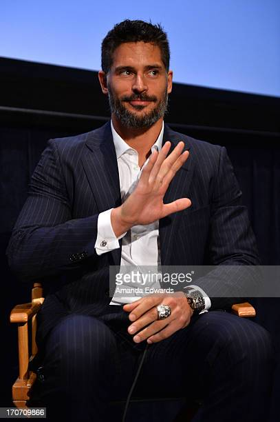 Actor Joe Manganiello speaks on stage at Coffee Talk Actors during the 2013 Los Angeles Film Festival at DIRECTV Theater on June 16 2013 in Los...