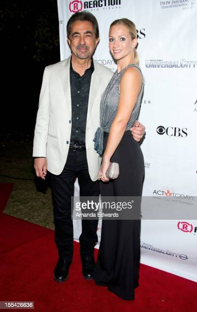 Actor Joe Mantegna and actress A.J. Cook arrive at the ACT Today!'s 7th Annual Denim & Diamonds For Autism Benefit on November 3, 2012 in Malibu,...