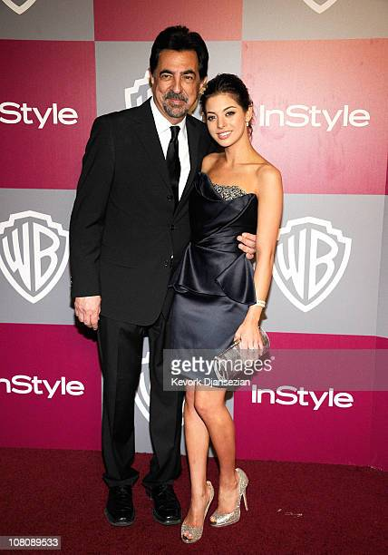 Actor Joe Mantegna and Miss Golden Globe 2011 Gia Mantegna arrive at the 2011 InStyle And Warner Bros 68th Annual Golden Globe Awards postparty held...