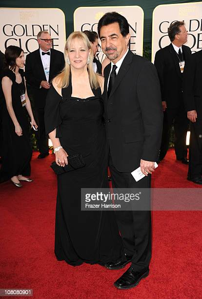 Actor Joe Mantegna and wife Arlene Vrhel arrive at the 68th Annual Golden Globe Awards held at The Beverly Hilton hotel on January 16 2011 in Beverly...