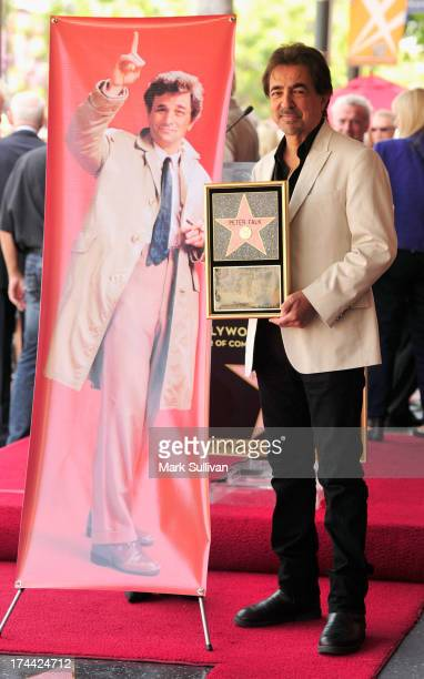 Actor Joe Mantegna poses at the ceremony honoring posthumously Peter Falk with a Star on The Hollywood Walk of Fame on July 25 2013 in Hollywood...