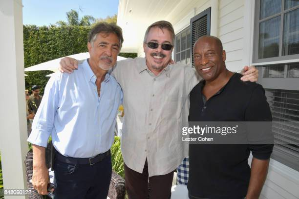 Actor Joe Mantegna producer Vince Gilligan and John Singleton attend the ICM Partners PreEmmy Brunch on September 16 2017 in Santa Monica California