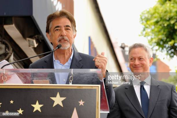 Actor Joe Mantegna speaks at the ceremony honoring Gary Sinise with a star on the Hollywood Walk Of Fame on April 17, 2017 in Hollywood, California.
