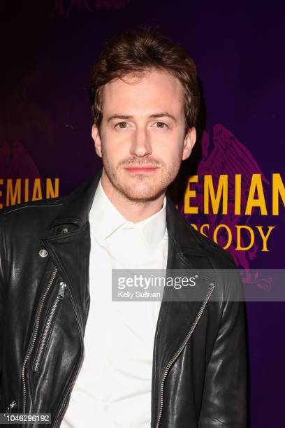 Actor Joe Mazzello poses for a photo on the red carpet for a special screening of 'Bohemian Rhapsody' at the Castro Theatre on October 5 2018 in San...