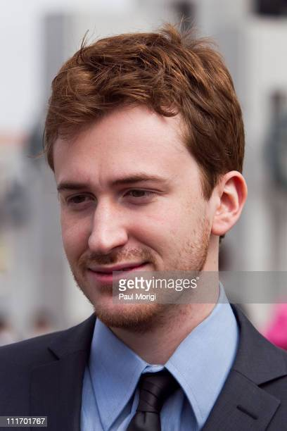 Actor Joe Mazzello talks with the media at a World War II Memorial Ceremony paying tribute to the vetrans of the Pacific at the National World War II...