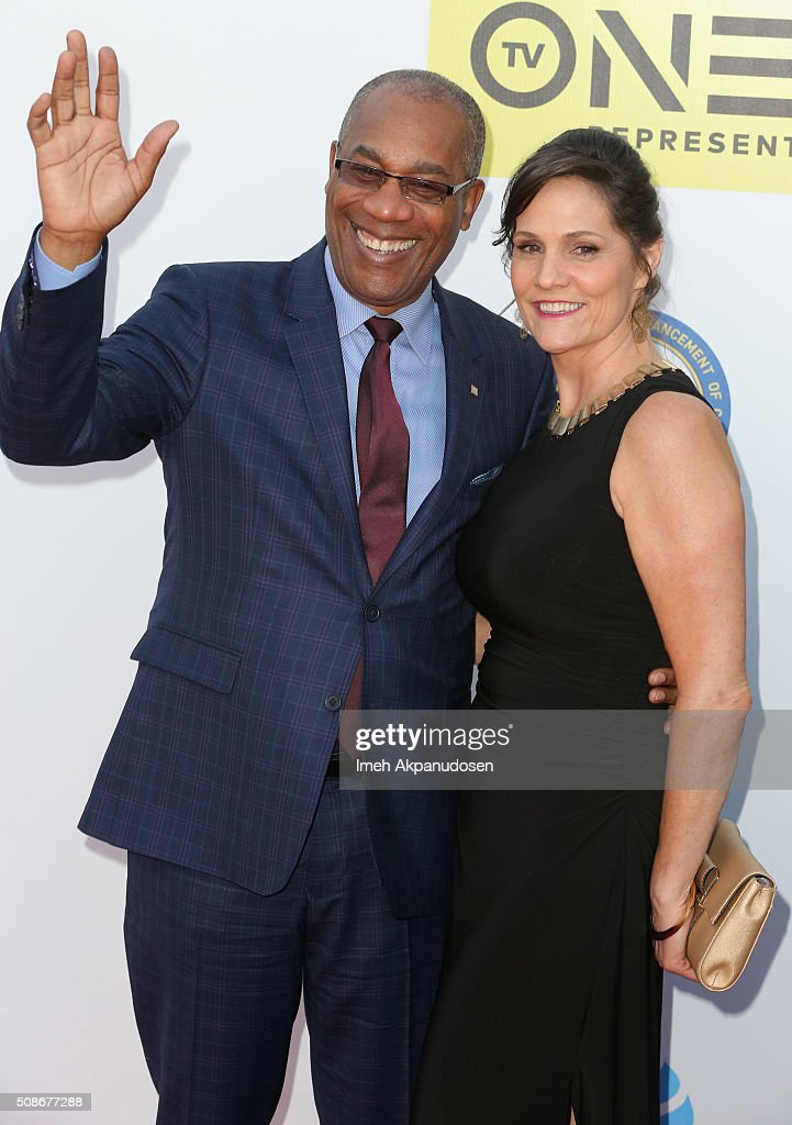 Actor Joe Morton (L) and guest attend the 47th NAACP Image Awards presented by TV One at Pasadena Civic Auditorium on February 5, 2016 in Pasadena, California.