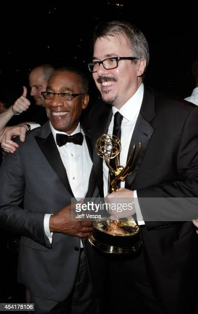 Actor Joe Morton and writer/producer Vince Gilligan attend the 66th Annual Primetime Emmy Awards Governors Ball held at Los Angeles Convention Center...
