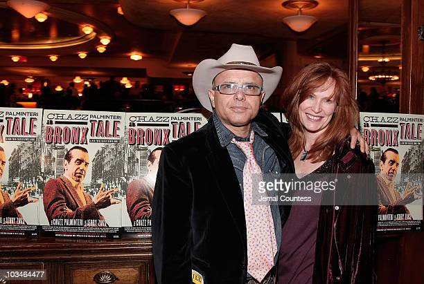 Actor Joe Pantoliano and wife Nancy Pantoliano at the afterparty for the opening night Broadway Production of A Bronx Tale at Bond 45 on October 25...