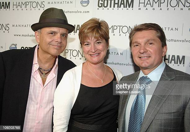 Actor Joe Pantoliano President of Volvo North America Anne Belec and President of Manhattan Automobile Company Gary Flom at the Hamptons Magazine...