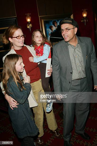 Actor Joe Pantoliano with wife Nancy and daughters Daniela and Isabella at the NY Premiere of Warner Bros Harry Potter and the Chamber of Secrets at...