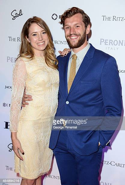 Actor Joe Perry and actress Mikaela Cochrane attend the HELLO Canada's 2014 Toronto International Film Festival Gala held at Ritz Carlton on...