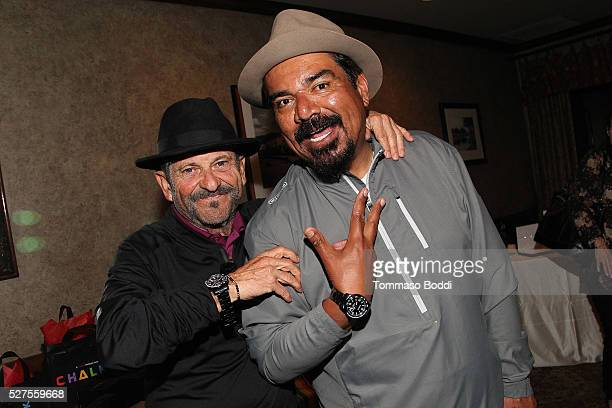 Actor Joe Pesci and comedian George Lopez attend the Backstage Creations Retreat At George Lopez's Celebrity Golf Classic at Lakeside Golf Club on...
