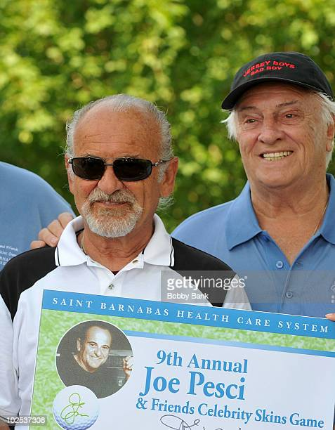 Actor Joe Pesci and Tommy DeVito attend the 9th Annual Joe Pesci Celebrity Skins Game at the Brook Lake Country Club on June 29 2010 in Florham Park...