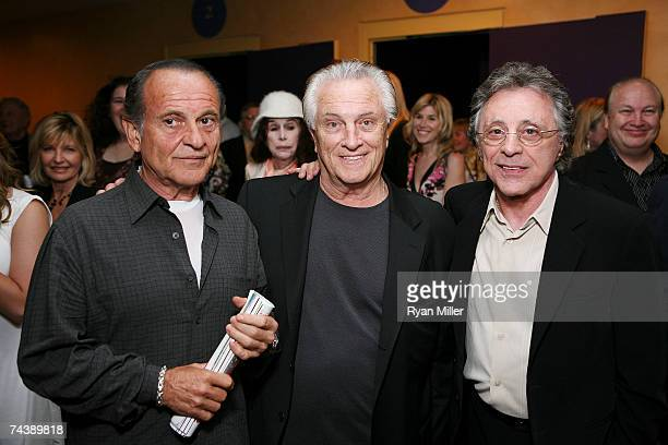 Actor Joe Pesci Origional Four Season Musician Tommy DeVito and Singer Frankie Valli pose during the opening night party for 'Jersey Boys' the 2006...