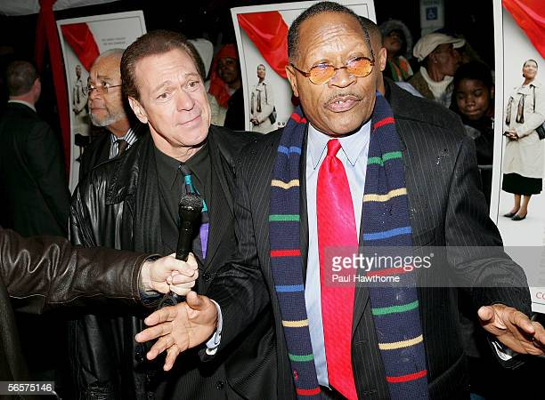 """Actor Joe Piscopo and Newark Mayor Sharpe James attend the premiere of """"Last Holiday"""" at Newark Screens January 11, 2006 in Newark, New Jersey."""