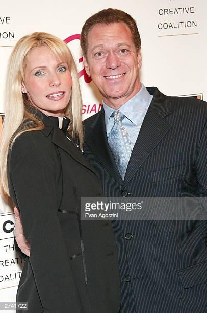 Actor Joe Piscopo and wife Kimberly arrive at the 2003 Creative Coalition Spotlight Awards at Sotheby's New York November 18 2003 in New York City