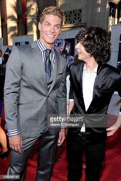 Actor Joe Slaughter and actor Adam G Sevani arrive to the world premiere of Touchstones Pictures and Summit Entertainment's 'Step Up 3D' held at the...