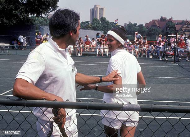 Actor Joe Spano and actress Veronica Hamel attend the Fifth Annual I Love New York ProCelebrity Tennis Tournament to Benefit the Cystic Fibrosis...