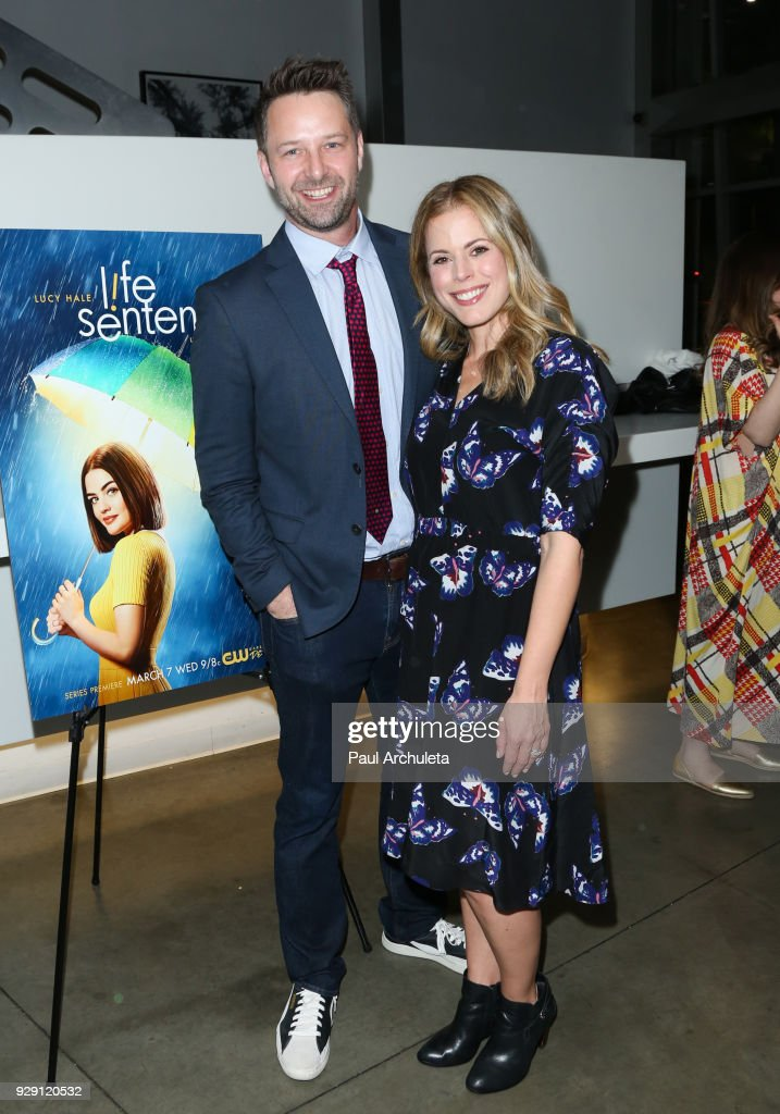 Actor Joe Towne (L) and Actress / Producer Erin Cardillo (R) attends the screening for the CW's 'Life Sentence' at The Downtown Independent on March 7, 2018 in Los Angeles, California.